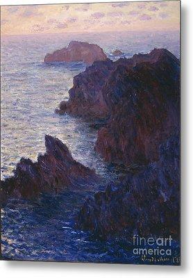 Rocks At Bell Ile Port Domois Metal Print by Claude Monet