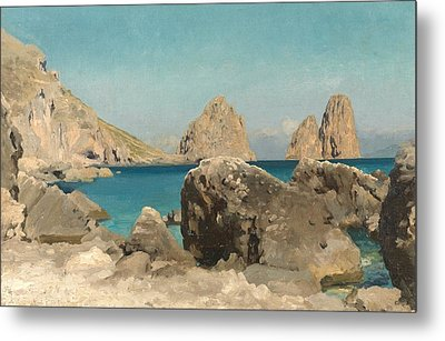 Rocks Of The Sirens Metal Print by Frederic Leighton