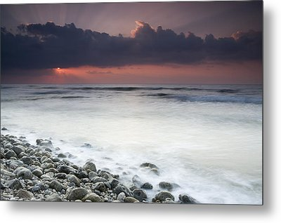 Rocky Beach At Sunrise Hawf Protected Metal Print by Sebastian Kennerknecht