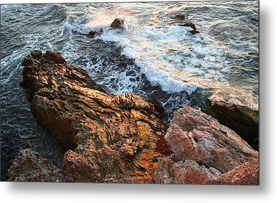 Metal Print featuring the photograph Rocky Coast In Warm Sun by Michael Rock