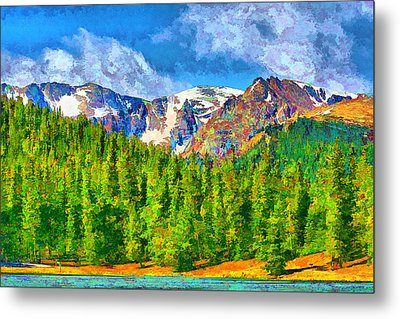 Metal Print featuring the digital art Rocky Mountain High by Brian Davis
