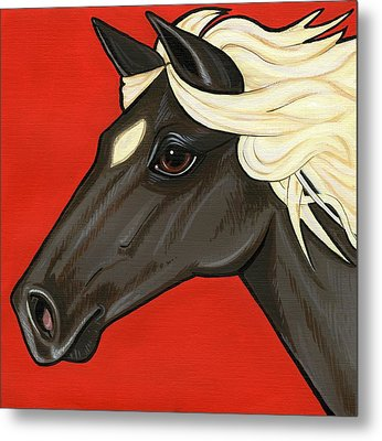 Rocky Mountain Pony Metal Print by Leanne Wilkes