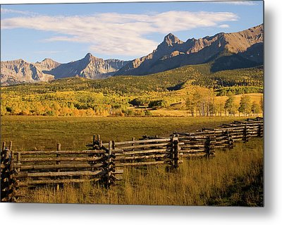 Rocky Mountain Ranch Metal Print by Steve Stuller