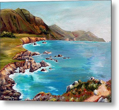 Metal Print featuring the painting Rocky Point At Big Sur by Terry Taylor