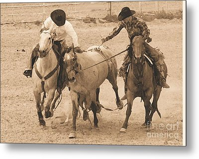 Rodeo Action Metal Print