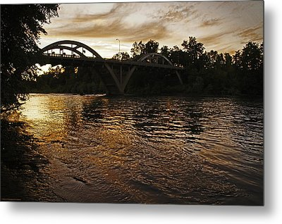 Rogue River Sunset Metal Print