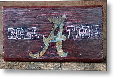 Roll Tide - Medium Metal Print by Racquel Morgan