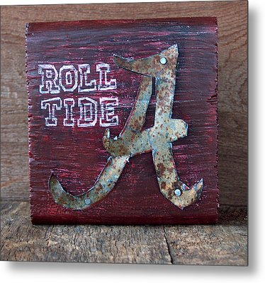 Roll Tide - Small Metal Print by Racquel Morgan