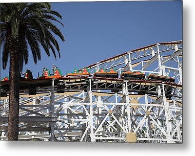 Roller Coaster - 5d17608 Metal Print by Wingsdomain Art and Photography