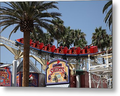 Roller Coaster - 5d17628 Metal Print by Wingsdomain Art and Photography