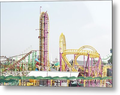 Rollercoaster Metal Print by Thenakedsnail
