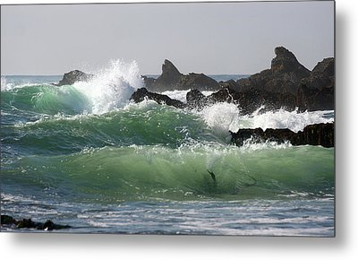Metal Print featuring the photograph Rolling Green Waves by Michael Rock