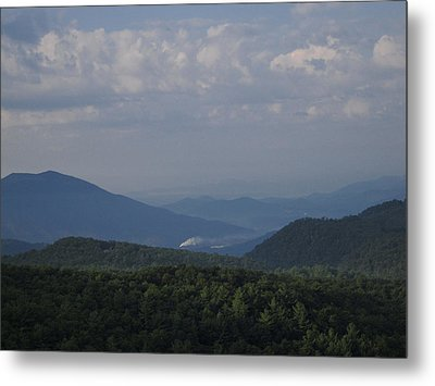 Rolling Through The Blue Ridge Metal Print by Victoria Ashley