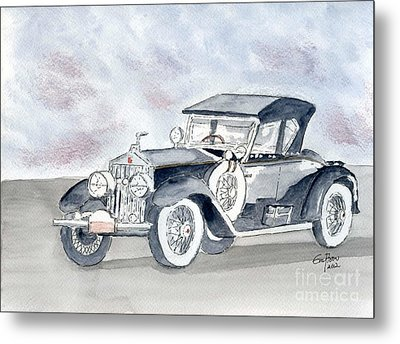 Metal Print featuring the painting Rolls Royce 1923 by Eva Ason