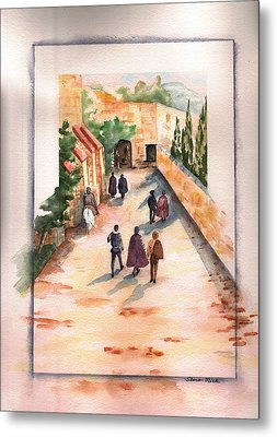 Metal Print featuring the painting Roman Avenue by Sharon Mick