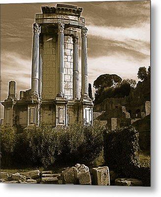 Roman Column Metal Print