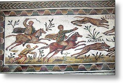Roman Mosaic Metal Print by Sheila Terry