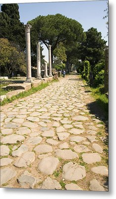 Roman Road, Ostia Antica Metal Print by Sheila Terry