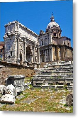 Roman Ruins - Roman Forum Metal Print by Gregory Dyer