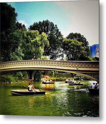 Romance - Central Park - New York City Metal Print