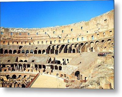Rome Coliseum Metal Print by Valentino Visentini