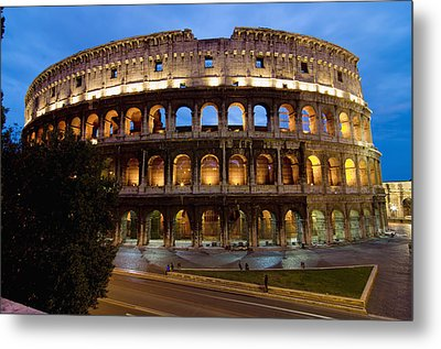 Rome Colosseum Dusk Metal Print by Axiom Photographic