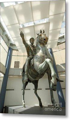 Rome Italy. Capitoline Museums Emperor Marco Aurelio Metal Print by Bernard Jaubert