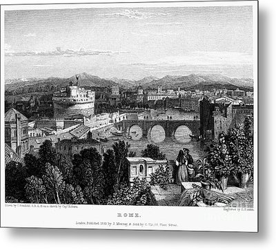 Rome: Scenic View, 1833 Metal Print by Granger