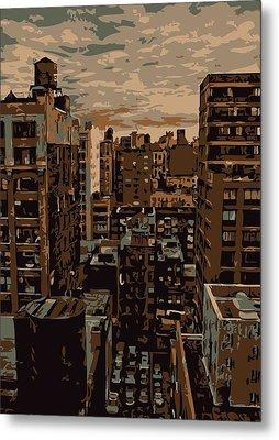 Rooftop Color 6 Metal Print by Scott Kelley