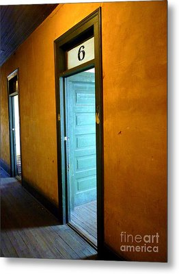 Metal Print featuring the photograph Room Six In Old Hotel by Renee Trenholm