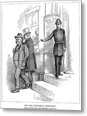 Roosevelt Cartoon, 1884 Metal Print by Granger