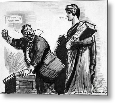 Roosevelt Cartoon, C1916 Metal Print by Granger