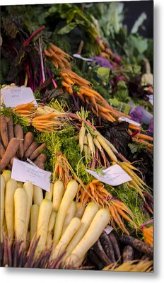 Root Vegetables At The Market Metal Print by Heather Applegate