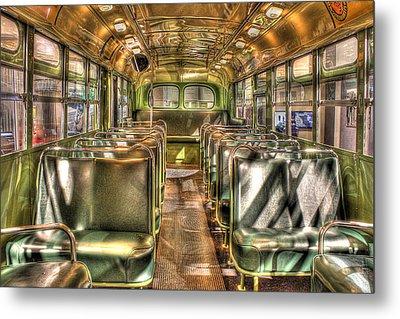 Rosa Parks Bus Inside Dearborn Mi Metal Print by Nicholas  Grunas