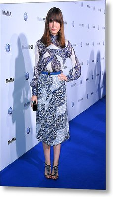 Rose Byrne Wearing A Dress By Peter Metal Print by Everett