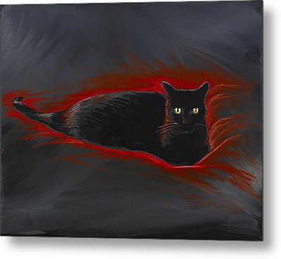 Rosemary Our Cat Metal Print by David Junod