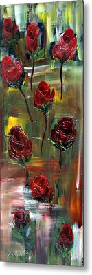 Roses Free Metal Print by Kathy Sheeran