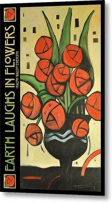 Roses In Vase Poster Metal Print by Tim Nyberg