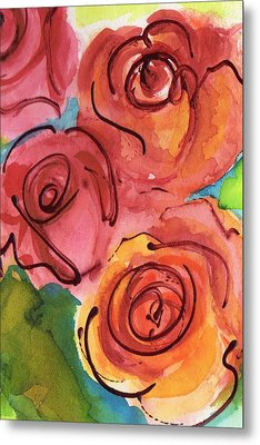 Rosettes Metal Print by Judy  Rogan