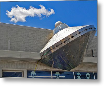 Roswell Alien Spacecraft Metal Print by Gregory Dyer