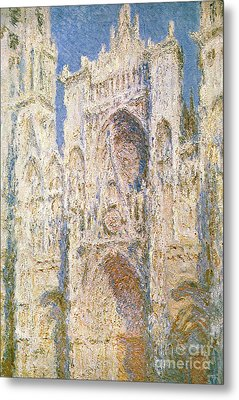 Rouen Cathedral Metal Print by Claude Monet
