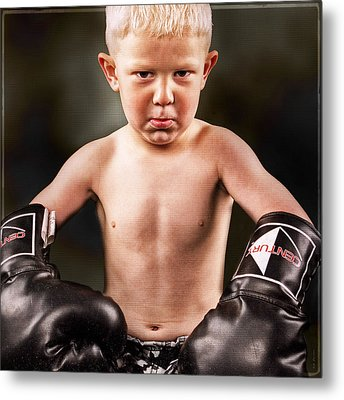 Round 1 Metal Print by DMSprouse Art