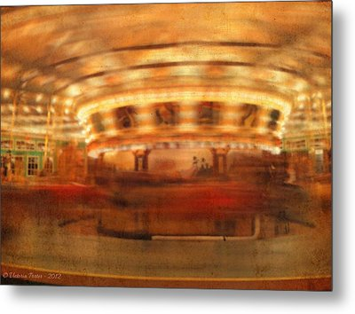 Round And Round Goes The Dentzel Carousel At Glen Echo Park Md Metal Print