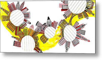 Rounded Cities Metal Print by Catarina Bessell