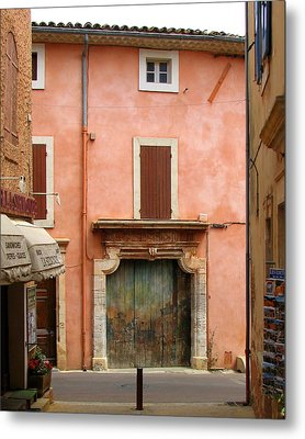 Roussillon Painted Door Metal Print by Carla Parris