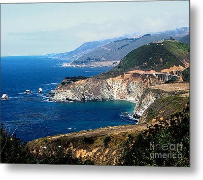 Route 1  California Pacific Coast  Metal Print by The Kepharts