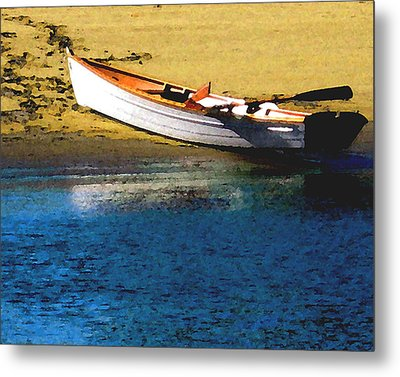 Rowboat At Mother's Beach Metal Print by Timothy Bulone