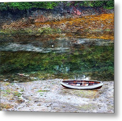 Metal Print featuring the photograph Rowboat In The Slough by Michele Cornelius