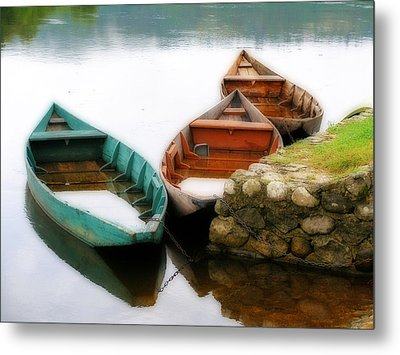 Rowing Boats Out Of Season Metal Print by Rod Jones