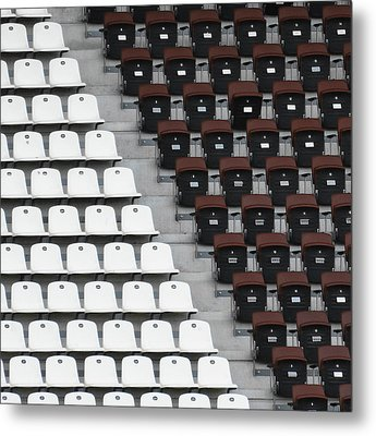Rows Of Seats In Different Colors Metal Print by Befo